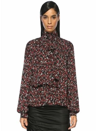 Magda Butrym Çiçek Desenli Bluz Kırmızı